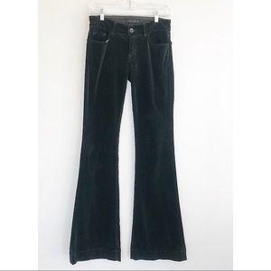 J Brand Love Story Corduroy Flare Pants Green 27
